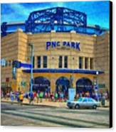 Pnc Park Canvas Print by Matt Matthews