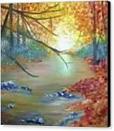Pocono Creek In Autumn Canvas Print
