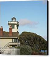 Point Fermin Light - An Elegant Victorian Style Lighthouse In Ca Canvas Print