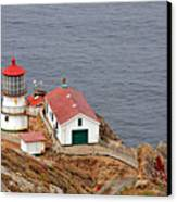 Point Reyes Lighthouse Ca Canvas Print by Christine Till