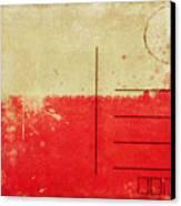 Poland Flag Postcard Canvas Print