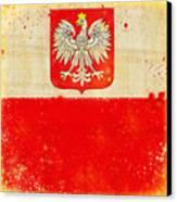 Poland Flag Canvas Print by Setsiri Silapasuwanchai