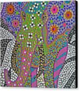 Polka Dot Ganesha Canvas Print by Vijay Sharon Govender
