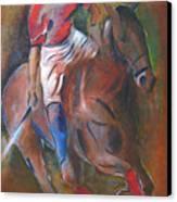 Polo Player Canvas Print by Vered Thalmeier