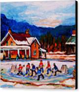 Pond Hockey Canvas Print