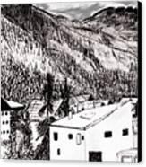Pontresina Black And White Canvas Print