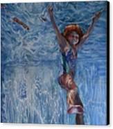 Pool Angel Canvas Print