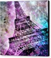 Pop Art Eiffel Tower Canvas Print by Melanie Viola