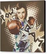 Pop Art Photo Illustration. Cartoon Comic Boxer Canvas Print by Jorgo Photography - Wall Art Gallery