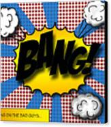 Pop Bang Canvas Print by Suzanne Barber