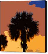 Pop Palms Canvas Print