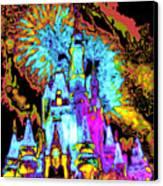 Popart Castle Canvas Print