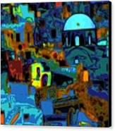 Popart Santorini Canvas Print