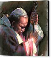 Pope John Paul II Canvas Print by Ylli Haruni