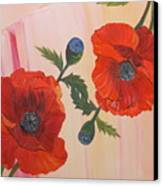 Poppies In Love Canvas Print