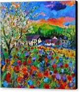 Poppies In Sorinnes  Canvas Print