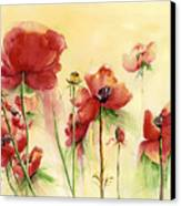 Poppies On Parade Canvas Print