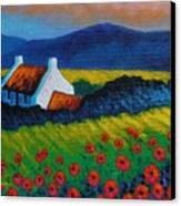 Poppy Meadow Canvas Print by John  Nolan