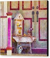 Porch - Cranford Nj - The Birdhouse Collector Canvas Print by Mike Savad