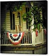 Porch Flag Canvas Print