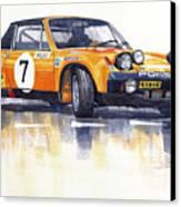 Porsche 914-6 Gt Rally Canvas Print