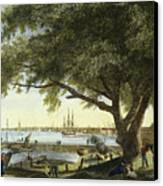Port Of Philadelphia, 1800 Canvas Print by Granger
