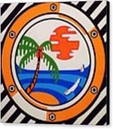 Porthole Paradise Canvas Print