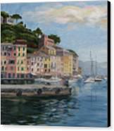 Portofino Port Canvas Print