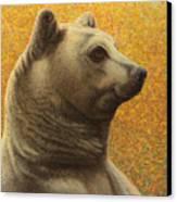 Portrait Of A Bear Canvas Print