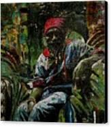 Portrait Of A Friend Canvas Print by Samuel Miller