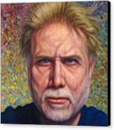 Portrait Of A Serious Artist Canvas Print by James W Johnson