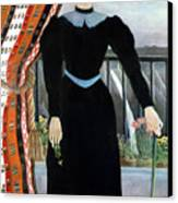 Portrait Of A Woman Canvas Print by Henri Rousseau