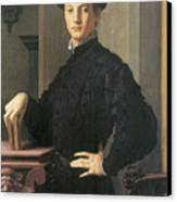 Portrait Of A Young Man Canvas Print by Agnolo Bronzino