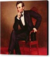 Portrait Of Abraham Lincoln Canvas Print by George Peter Alexander Healy