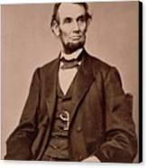 Portrait Of Abraham Lincoln Canvas Print by Mathew Brady