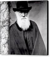 Portrait Of Charles Darwin Canvas Print by Julia Margaret Cameron