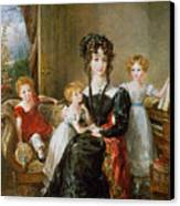 Portrait Of Elizabeth Lea And Her Children Canvas Print by John Constable