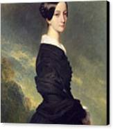 Portrait Of Francisca Caroline De Braganca Canvas Print by Franz Xaver Winterhalter