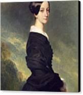 Portrait Of Francisca Caroline De Braganca Canvas Print by Franz Xaver Winterhalter