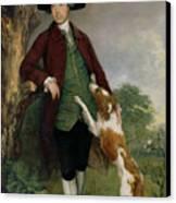 Portrait Of George Venables Vernon Canvas Print by Thomas Gainsborough