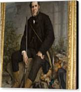 Portrait Of John Bowes Canvas Print by Carl Purcell
