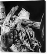 Portrait Of Louie Armstrong Canvas Print by Carrie Jackson