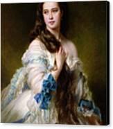 Portrait Of Madame Rimsky Korsakov Canvas Print by Franz Xaver Winterhalter