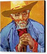 Portrait Of Patience Escalier Canvas Print