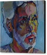 Portrait Of Paulinho - Guitarist-singer In Progress Canvas Print by Piotr Antonow