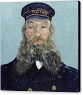 Portrait Of Postman Roulin Canvas Print by Vincent van Gogh