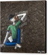 Portrait Of The Crazy Poet Canvas Print