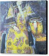 Portrait Of The Empress Dowager Cixi Canvas Print by Chinese School