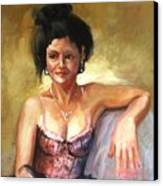 Portrait Sample Canvas Print by Podi Lawrence