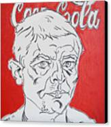 Portrait With Coca Cola Canvas Print